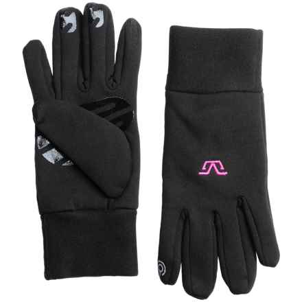 Gordini Tactip Stretch Fleece Gloves - Touchscreen Compatible (For Women) in Black/Deep Pink - Closeouts