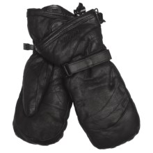 Gordini The Leather Goose II Mittens - Waterproof, 600 Fill Power (For Men) in Black - Closeouts