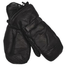 Gordini The Leather Goose II Mittens - Waterproof, 600 Fill Power (For Women) in Black - Closeouts