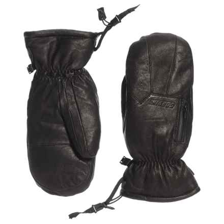 Gordini The Leather Goose III Down Mittens - Waterproof, 600 Fill Power (For Women) in Black - Closeouts