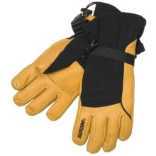 Gordini Ultimate Down Gloves - Waterproof, Insulated (For Women) in Black/Gold - Closeouts