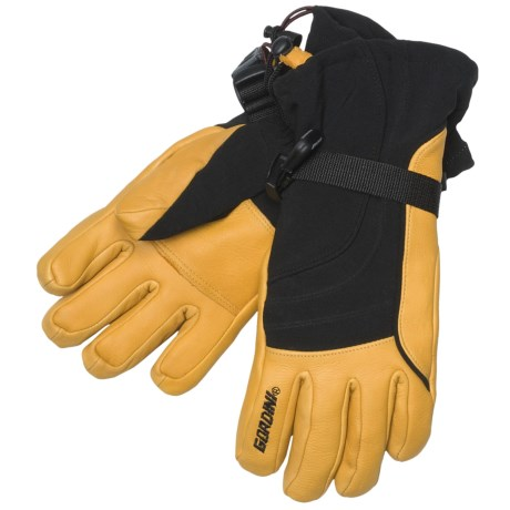 Gordini Ultimate Down Gloves - Waterproof, Insulated (For Women) in Black/Gold