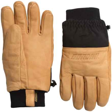 Gordini Vagabond Gloves - Leather (For Men) in Wheat/Black - Closeouts