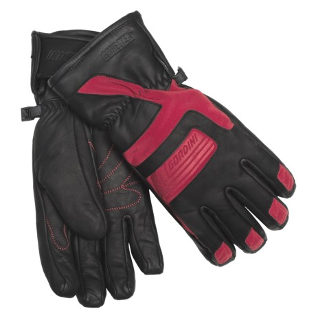 Gordini Vertex Gore-Tex® Gloves - Waterproof, Insulated (For Men) in Black/Crimson