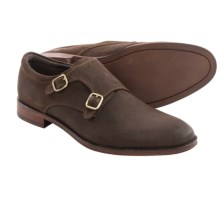Gordon Rush Allan Double Monk Strap Shoes (For Men) in Dark Brown Suede - Closeouts