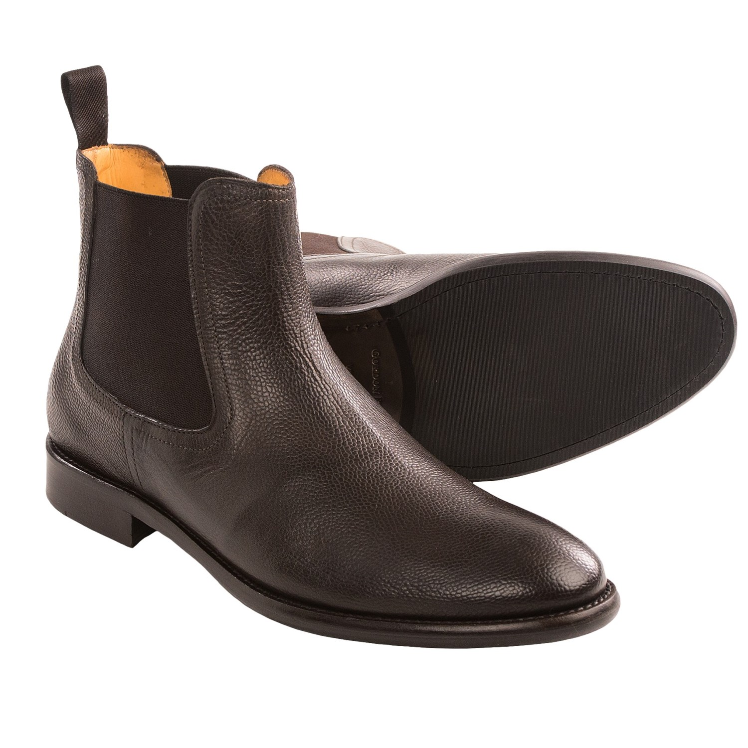 gordon empire dress boots pebbled leather for