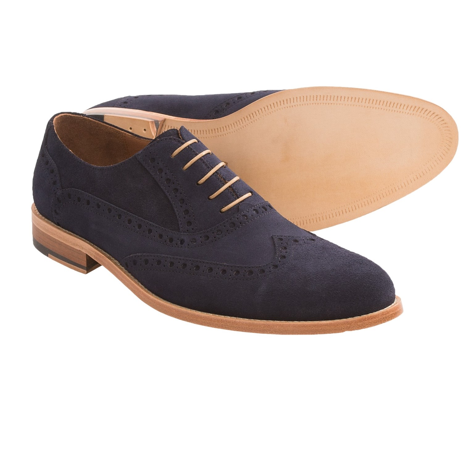 gordon foster suede dress shoes wingtip for