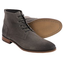 Gordon Rush Harvey Suede Boots (For Men) in Grey Waxed Suede - Closeouts