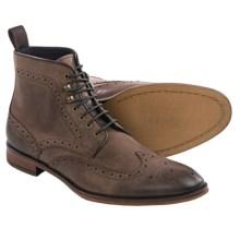 Gordon Rush Kennedy Wingtip Boots - Leather (For Men) in Dark Brown Leather - Closeouts