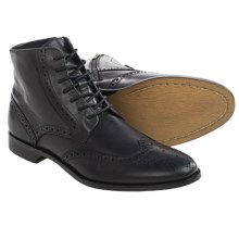 Gordon Rush Marcus Wingtip Leather Boots (For Men) in Black Leather - Closeouts