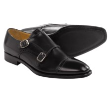 Gordon Rush Williams Leather Shoes - Monk Strap, Slip-Ons (For Men) in Black - Closeouts