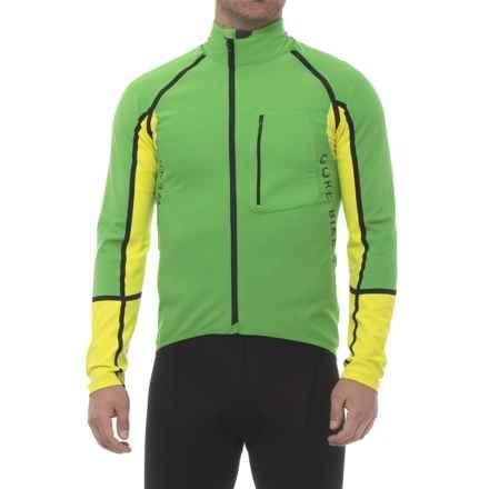 Gore Bike Wear Alp-X Pro Windstopper® Cycling Jersey - Long Sleeve (For Men) in Fresh Green/Cadmium Yellow - Closeouts