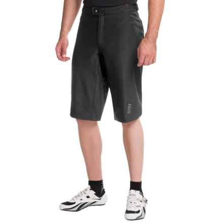 Gore Bike Wear Alp-X Soft Shell Mountain Bike Shorts - Windstopper® (For Men) in Black - Closeouts