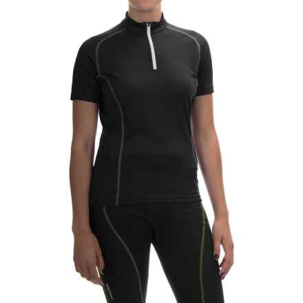 Gore Bike Wear Contest Cycling Jersey - Zip Neck, Short Sleeve (For Women) in Black/White - Closeouts