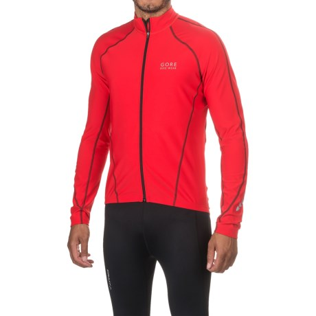 Gore Bike Wear Contest Thermo Cycling Jersey - Full Zip, Long Sleeve (For Men) in Red