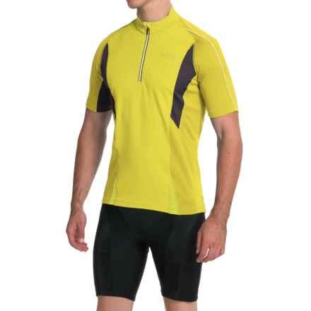 Gore Bike Wear Countdown 2.0 Cycling Jersey - Zip Neck, Short Sleeve (For Men) in Sulphur Yellow/Raven Brown - Closeouts