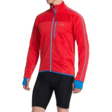 Gore Bike Wear Countdown 2.0 Soft Shell Cycling Jacket - Windstopper® (For Men) in Red/Splash Blue - Closeouts