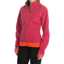 Gore Bike Wear Element Active Shell Convertible Cycling Jacket - Windstopper® (For Women) in Jazzy Pink/Blaze Orange - Closeouts