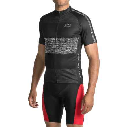 Gore Bike Wear Element Edition Cycling Jersey - Full-Zip, Short Sleeve (For Men) in Black - Closeouts