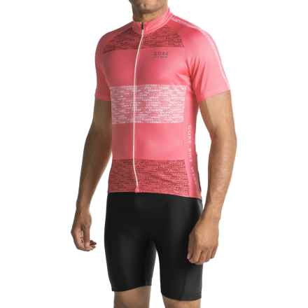 Gore Bike Wear Element Edition Cycling Jersey - Full-Zip, Short Sleeve (For Men) in Giro Pink - Closeouts