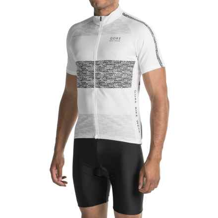 Gore Bike Wear Element Edition Cycling Jersey - Full-Zip, Short Sleeve (For Men) in White - Closeouts
