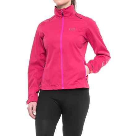 Gore Bike Wear Element Gore-Tex® Active Cycling Jacket - Waterproof (For Women) in Jazzy Pink/Magenta - Closeouts
