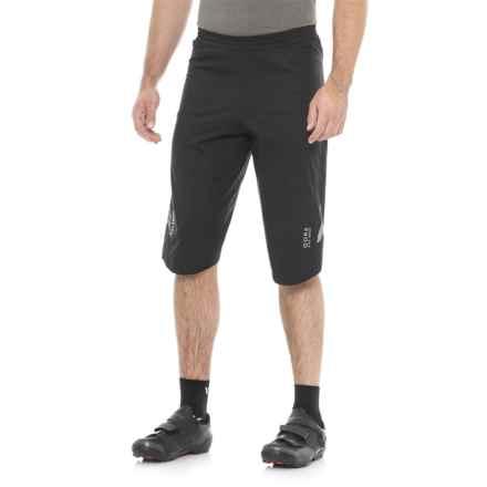 Gore Bike Wear Element Gore-Tex® PacLite® Shorts - Waterproof (For Men) in Black - Closeouts