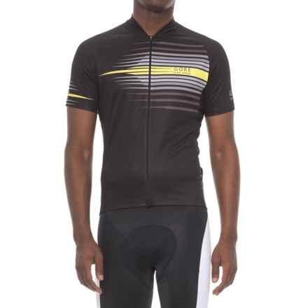 Gore Bike Wear Element Razor Cycling Jersey - Short Sleeve (For Men) in Black/Cadmium Yellow - Closeouts