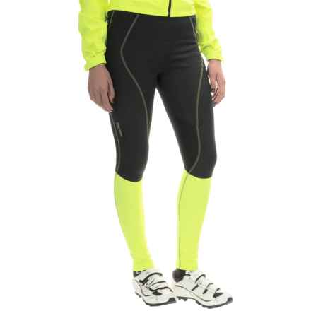 Gore Bike Wear Element Soft Shell Cycling Tights - Windstopper® (For Women) in Black/Neon Yellow - Closeouts