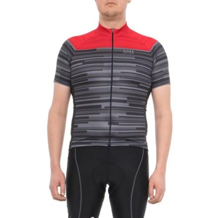 Gore Bike Wear Element Stripes Cycling Jersey - Full Zip 1f9e5202b