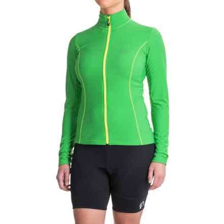 Gore Bike Wear Element Thermo Cycling Jersey - Full Zip, Long Sleeve (For Women) in Fresh Green/Neon Yellow - Closeouts