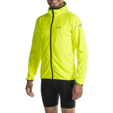 Gore Bike Wear Element Windstopper® jacket (For Men) in Neon Yellow - Closeouts