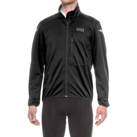 Gore Bike Wear Element Windstopper® Soft Shell Cycling Jacket (For Men) in Black/White - Closeouts