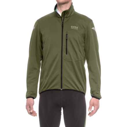 Gore Bike Wear Element Windstopper® Soft Shell Cycling Jacket (For Men) in Ivy Green/Black - Closeouts