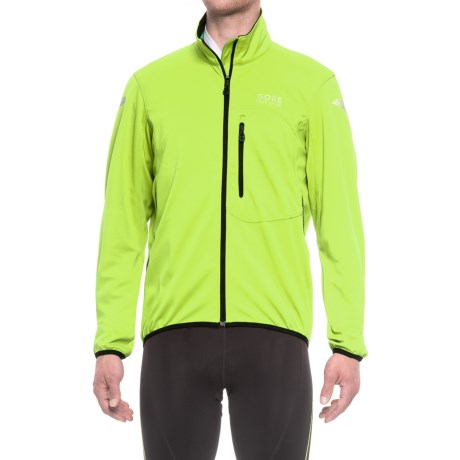 Gore Bike Wear Element Windstopper® Soft Shell Cycling Jacket (For Men) in Neon Yellow/Black