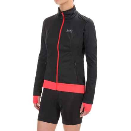 Gore Bike Wear Element Windstopper® Soft Shell Jacket (For Women) in Black/Lumi Orange - Closeouts
