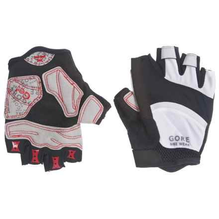Gore Bike Wear Oxygen Cycling Gloves (For Men and Women) in Black/White - Closeouts