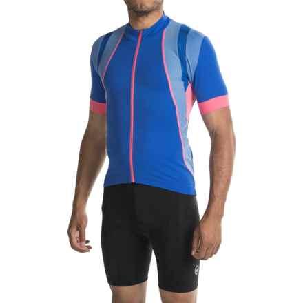 Gore Bike Wear Oxygen Cycling Jersey - Full Zip, Short Sleeve (For Men) in Brilliant Blue/Blizzard Blue - Closeouts