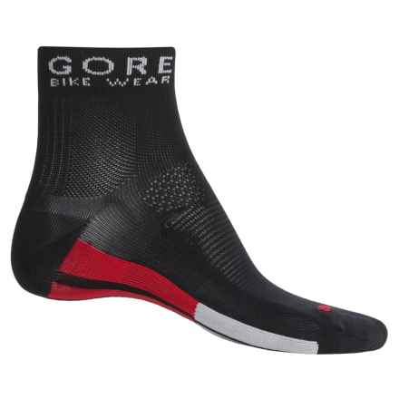 Gore Bike Wear Oxygen Cycling Socks - Ankle (For Men and Women) in Black/Silver Grey - Closeouts