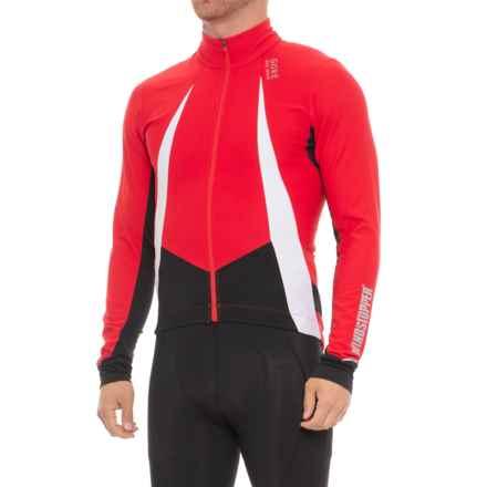 Gore Bike Wear Oxygen Windstopper® Cycling Jersey - Long Sleeve (For Men) in Red/Black - Closeouts