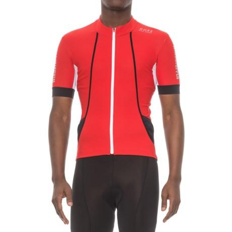 Gore Bike Wear Oxygen Windstopper® Cycling Jersey - Short Sleeve (For Men) in Red/Black