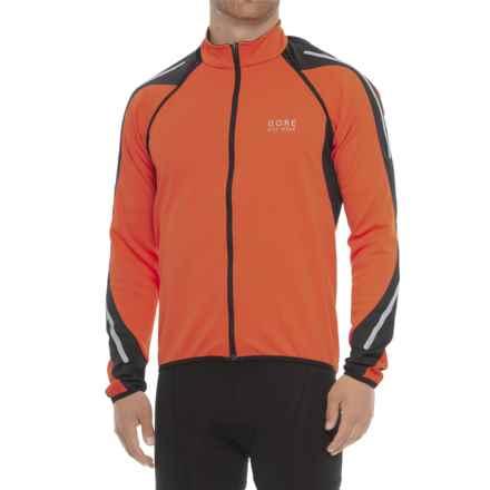 Gore Bike Wear Phantom 2.0 Soft Shell Cycling Jacket - Windstopper® (For Men) in Blaze Orange/Black - Closeouts