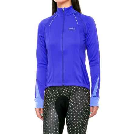 Gore Bike Wear Phantom 2.0 Windstopper® Soft Shell Cycling Jacket (For Women) in Brilliant Blue/Blizzard Blue - Closeouts