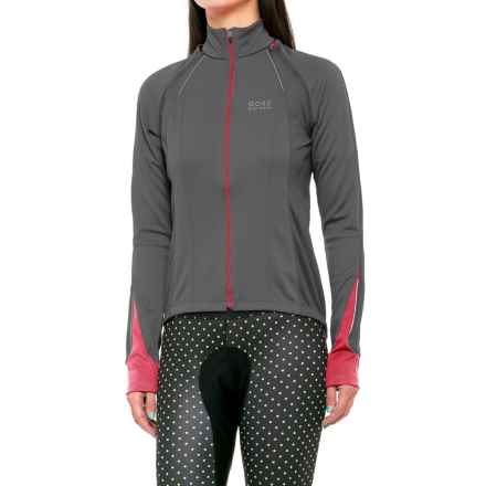 Gore Bike Wear Phantom 2.0 Windstopper® Soft Shell Cycling Jacket (For Women) in Graphite Grey/Jazzy Pink - Closeouts
