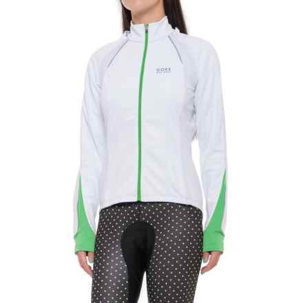 Gore Bike Wear Phantom 2.0 Windstopper® Soft Shell Cycling Jacket (For Women) in White/Fresh Green - Closeouts