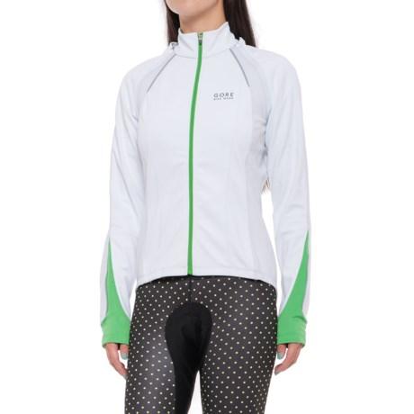 Gore Bike Wear Phantom 2.0 Windstopper® Soft Shell Cycling Jacket (For Women) in White/Fresh Green