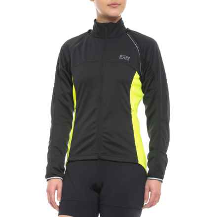 Gore Bike Wear Phantom Plus Windstopper® ZO Jacket (For Women) in Black/Neon Yellow - Closeouts