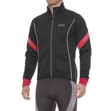 Gore Bike Wear Power 2.0 Windstopper® Soft Shell Cycling Jacket (For Men) in Black/Red - Closeouts