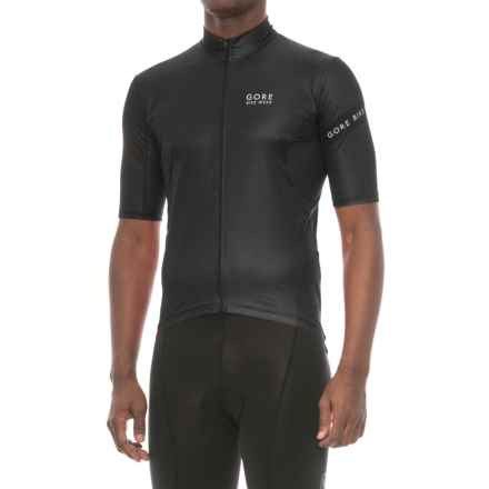 Gore Bike Wear Power 3.0 Cycling Jersey - Full Zip, Short Sleeve (For Men) in Black/White - Closeouts