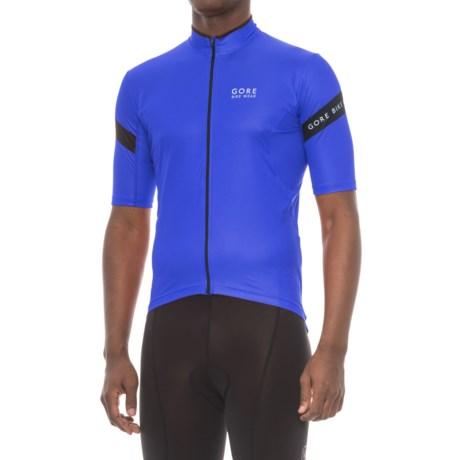 Gore Bike Wear Power 3.0 Cycling Jersey - Full Zip, Short Sleeve (For Men) in Brilliant Blue/Black